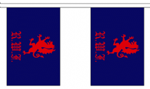 ROYAL WELCH FUSILIERS BUNTING - 3 METRES 10 FLAGS
